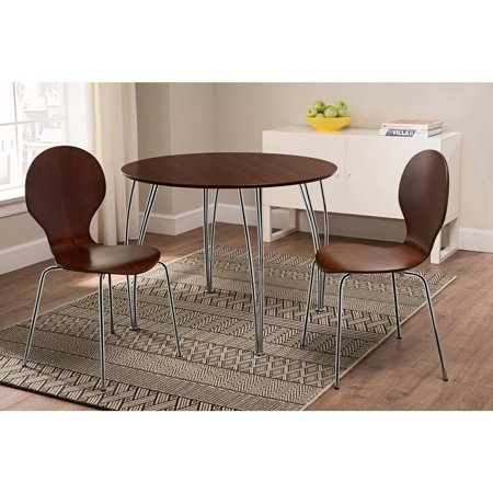Shell Bentwood Dinette Chairs Multiple Colors, Set of 2, Espresso ()