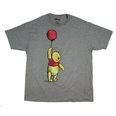 Disney Winnie The Pooh Floating Balloon Men's (Uh Huh Honey Shirt Winnie The Pooh)