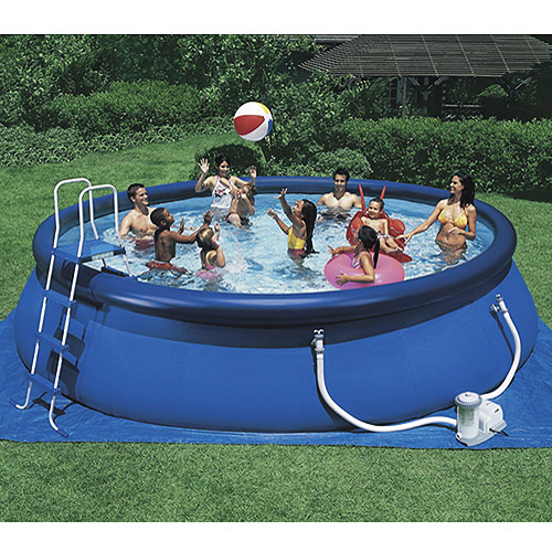 Easy-Set Inflatable Swimming Pool, 18' X 48''
