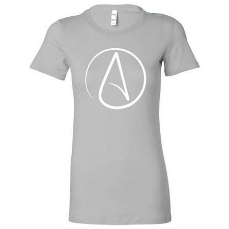 Atheist White Print Ladies Lightweight Fitted T Shirt Walmart