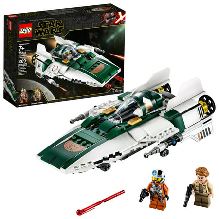 LEGO Star Wars: The Rise of Skywalker Resistance A-Wing Starfighter 75248 Advanced Collectible Starship Model Set (269 Pieces)