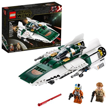 LEGO Star Wars: The Rise of Skywalker Resistance A-Wing Starfighter 75248 Advanced Collectible Starship Model Set (269 Pieces) Star Wars Naboo Starfighter
