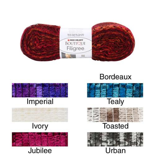 Red Heart Boutique Filigree Yarn Bordeaux