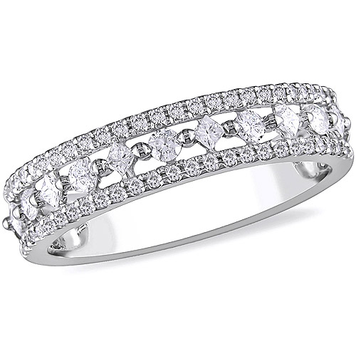 Miabella 1/2 Carat T.W. Princess Cut Diamond Ring in 10kt White Gold