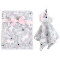 Hudson Baby Plush Blanket and Security Blanket Set, Whimsical Unicorn