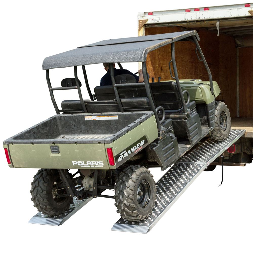 "Extra Wide Aluminum Big Boy EZ Rizer 120"" x 19"" UTV Loading Ramps"