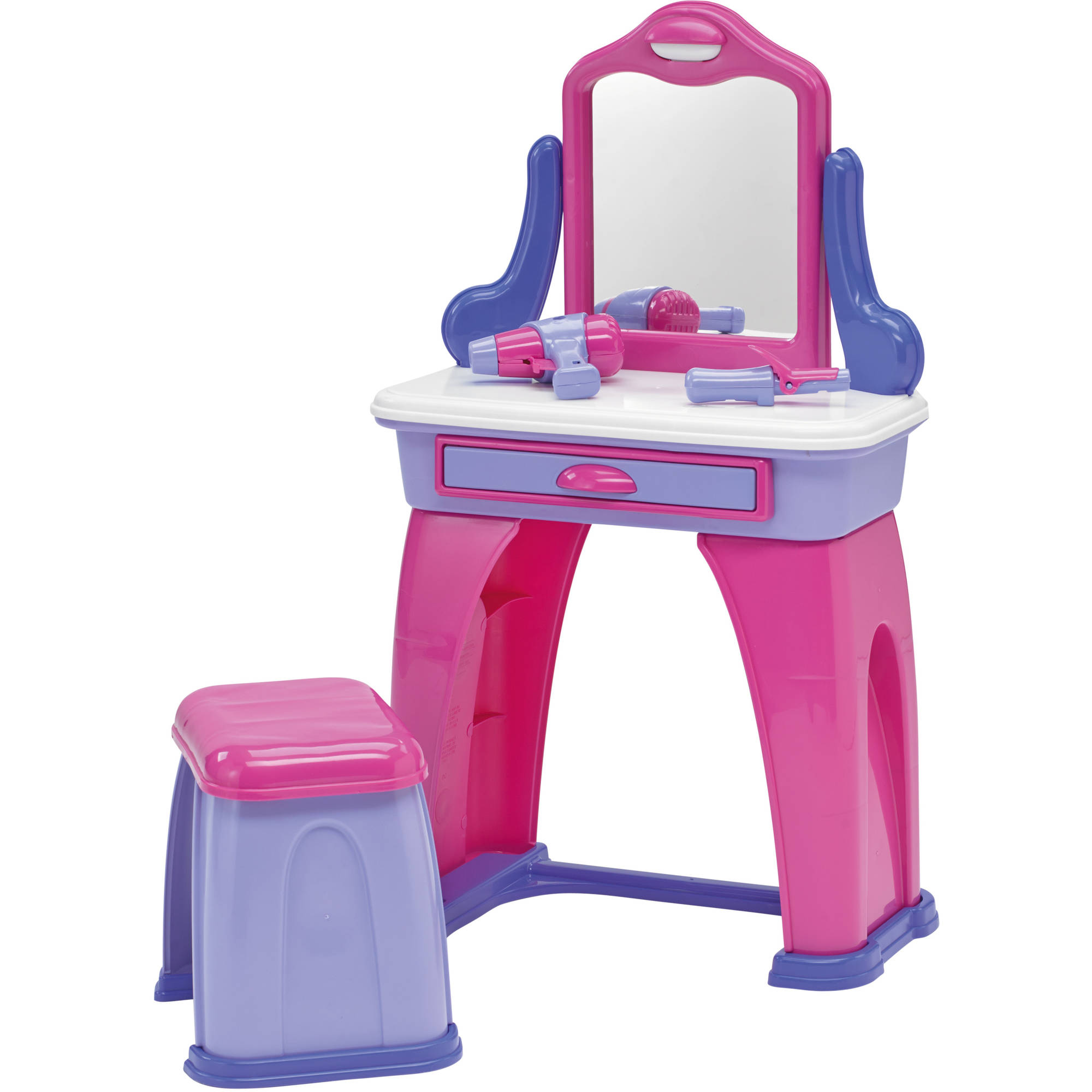 Terrific American Plastic Toys My Very Own Kids Vanity With 7 Accessories Walmart Com Lamtechconsult Wood Chair Design Ideas Lamtechconsultcom