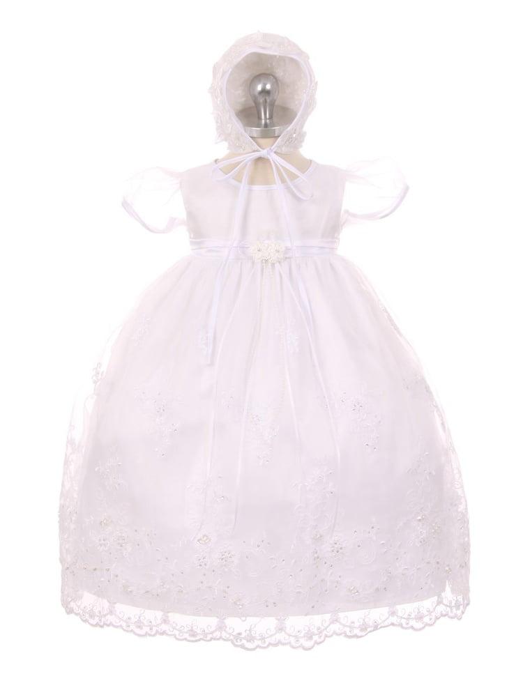 39e8716feb2 Kids Dream - Kids Dream Baby Girls White Organza Pearls Sequins Christening  Dress 3-24M - Walmart.com