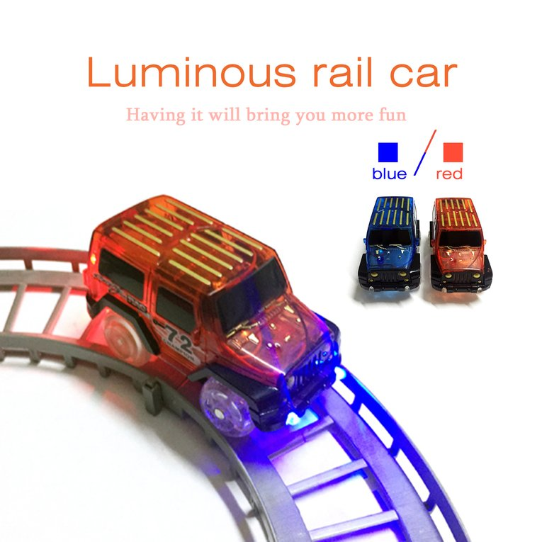 Funny Design LED Light Up Car Toys Children Kids Fancy Electronics Tracks Car Toys With Cool Flashing Light Best Gift