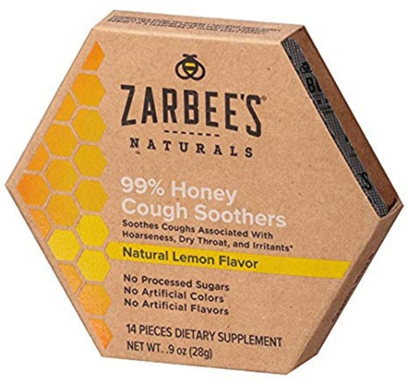 4 Pack - ZarBee's Naturals  99% Honey Cough Soothers, Lemon 0.9 oz