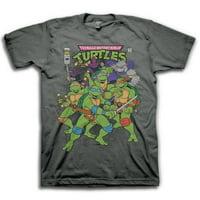 Teenage Mutant Ninja Turtles Comic Cover Mens Grey T-shirt