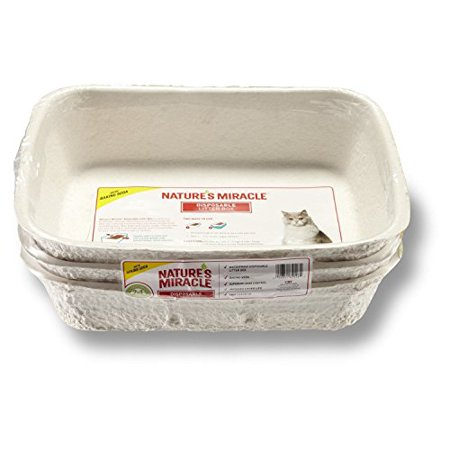 Nature's Miracle Disposable Litter Box- Easy To Clean- Superior Odor Control- Waterproof And Disposable- Best Cat Litter Box 3-Pack,