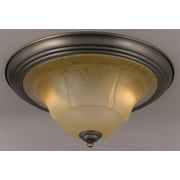 Providence Ceiling Flush (Antique Copper - White)