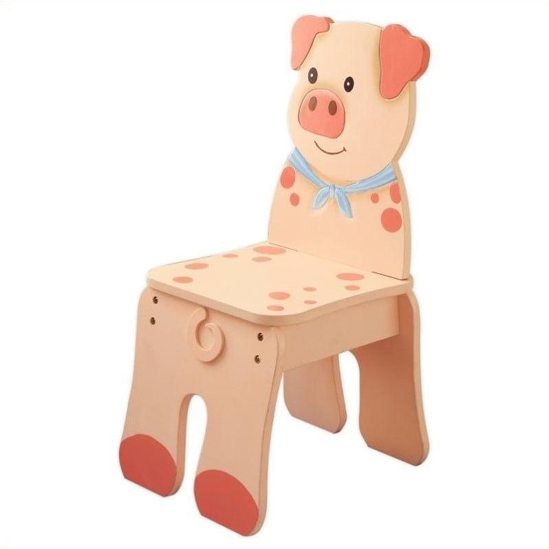 Fantasy Fields Happy Farm Pig Kids Desk Chair by Teamson