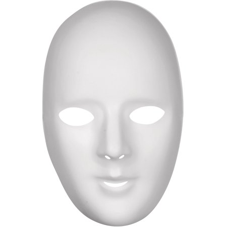 Loftus Women Female Plain Anonymous Matte Pvc Face Mask  White  One Size