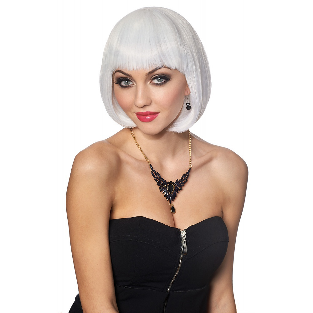 Bob Wig Adult Costume Accessory Platinum Blonde