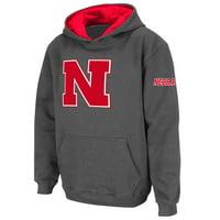 Nebraska Cornhuskers Stadium Athletic Youth Big Logo Pullover Hoodie - Charcoal