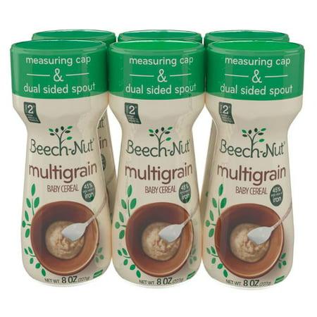 Beech-Nut Multigrain Baby Cereal Stage 2 - 8 Oz, 6