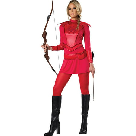 Red Warrior Huntress Women's Adult Halloween Costume - Huntress Costume For Sale