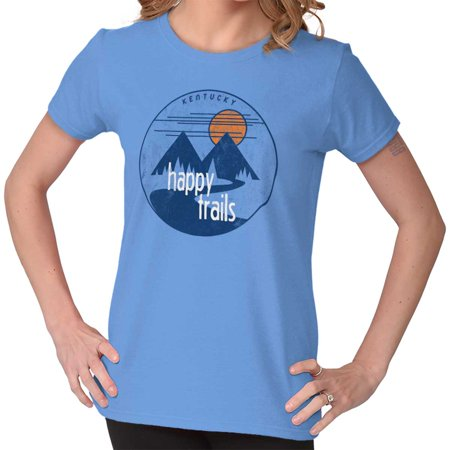 Brisco Brands Happy Trails Hiking In Kentucky Adult Short Sleeve