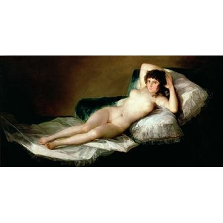 La Maja Desnuda Rolled Canvas Art Francisco Goya 10 X 20