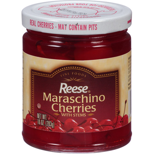 Reese Maraschino Cherries with Stems, 10 oz, (Pack of 12) by Reese Products
