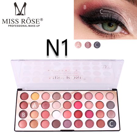 Iuhan MISS ROSE 36 Color Fashion 3D Colorful Waterproof Palette Matte Pearl Eyeshadow