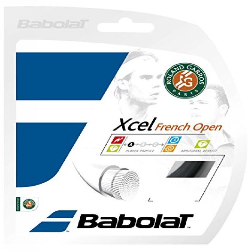 Babolat Xcel French Open 17G Tennis Racquet String Black,...