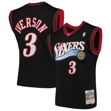 Allen Iverson Philadelphia 76ers Mitchell & Ness Hardwood Classics Swingman Jersey - Black