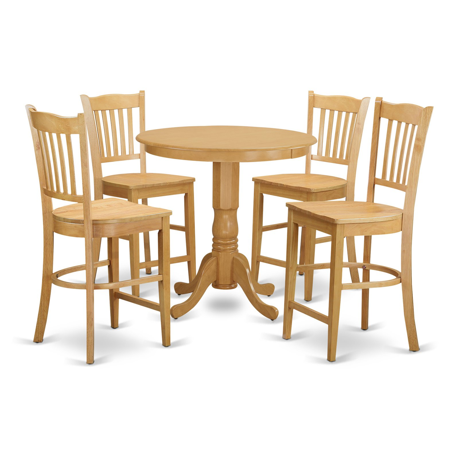 East West Furniture Jackson 5 Piece Comb Back Dining Table Set