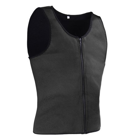 Men Body Shaper Slimming Waist Corset Belly Wrap Top Sport Fat Burner Sauna  - image 3 de 6