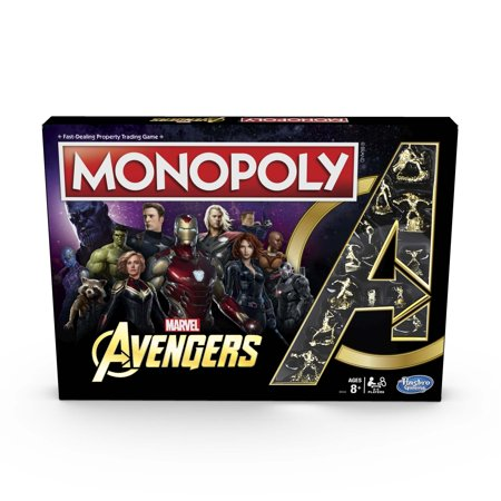 Monopoly: Marvel Avengers Edition Board Game for Ages 8 and Up ()