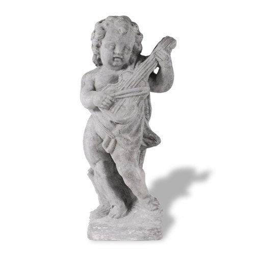 Amedeo Design ResinStone Cherub Violinist Statue