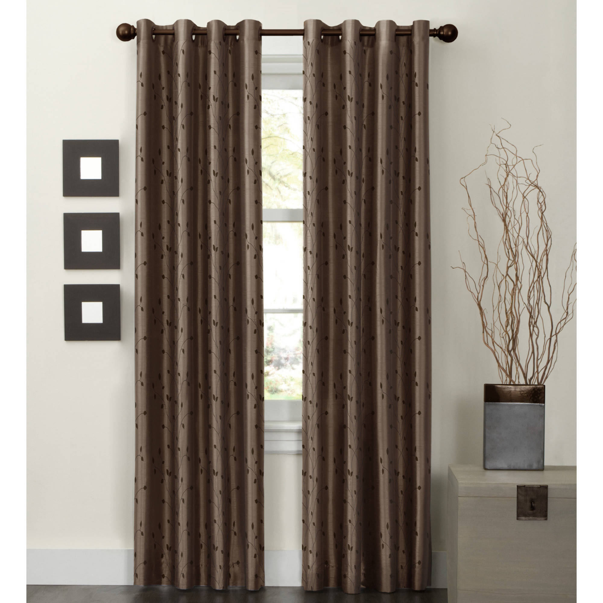 Maytex Jardin Embroidered Thermal Lined Energy Window Panel
