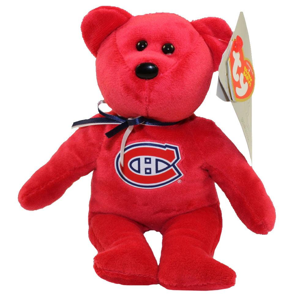 TY Beanie Baby NHL Hockey Bear MONTREAL CANADIENS (8 inch) by TY