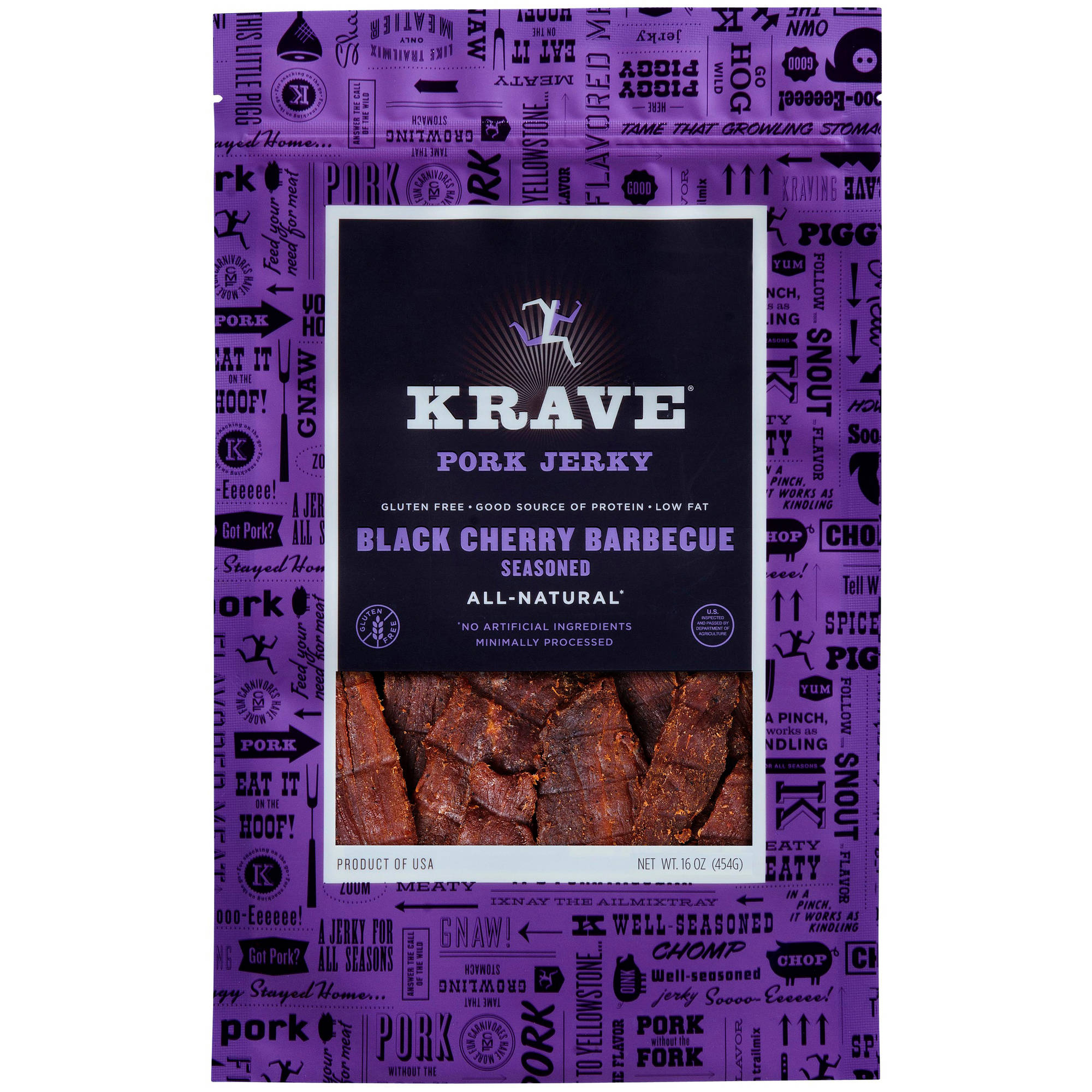 Krave Black Cherry Barbecue Seasoned Pork Jerky, 16 oz