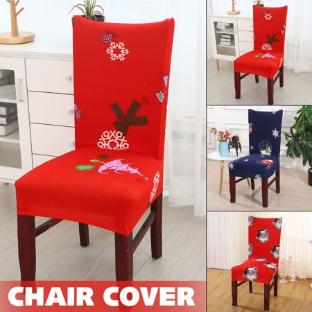 Christmas Elastic Chair Cover,Sofa Chair Cover Elastic Detachable Protective Seat Cover, High Quality Soft And Dustproof Polyester&Spandex, Suitable For Hotel / Wedding ()