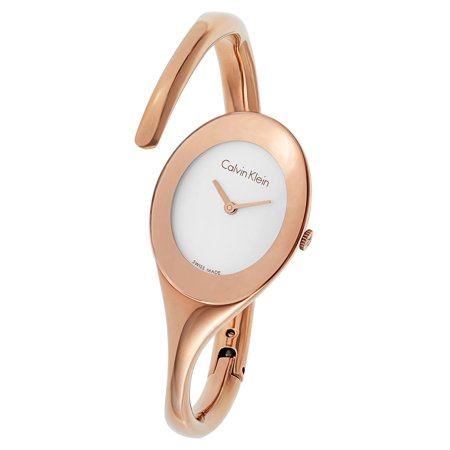 7ba73b774b Calvin Klein - Women s Embrace Stainless Steel Rose Gold PVD Coated Silver  Tone Swiss Quartz Watch - Rose Gold - Walmart.com