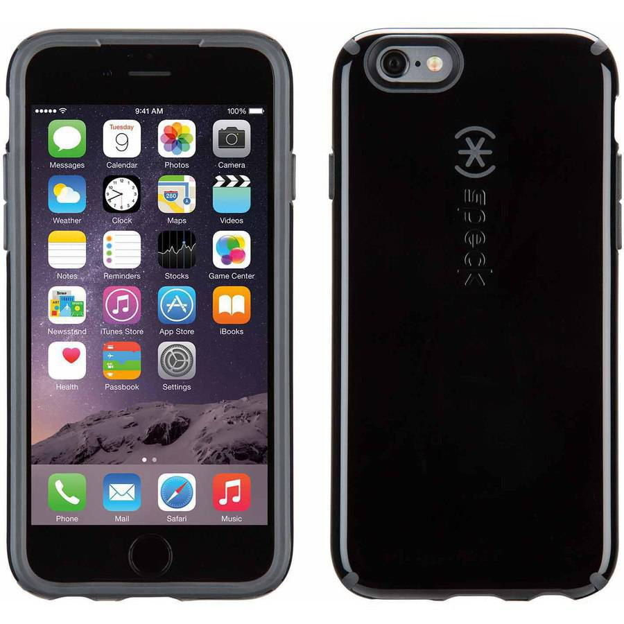 Speck Apple iPhone 6,6s CandyShell Case, Black,Slate Grey