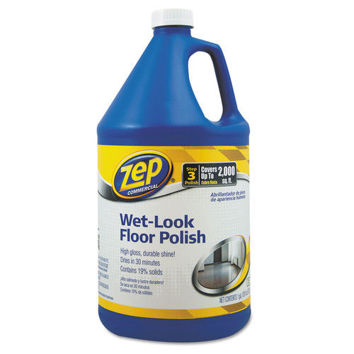 Zep Commercial Wet Look Floor Polish, 1 gal Bottle