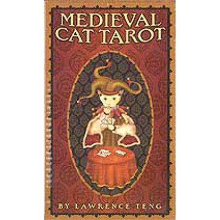 3 Cat In Halloween Game (Party Games Accessories Halloween Séance Tarot Cards Medieval Cat tarot deck by Pace &)