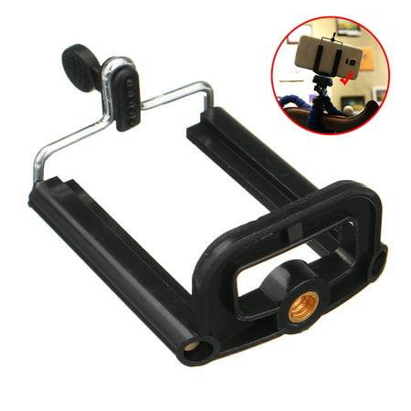 Portable Black Tripod Head Adapter Clip Accessories Universal Camera Phone Tool ()
