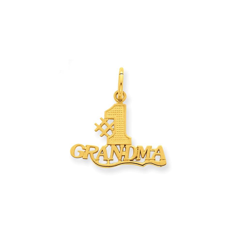 14k Yellow Gold #1 Grandma Charm Pendant