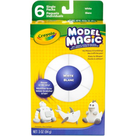 Crayola Model Magic  5Oz 6 Pkg White