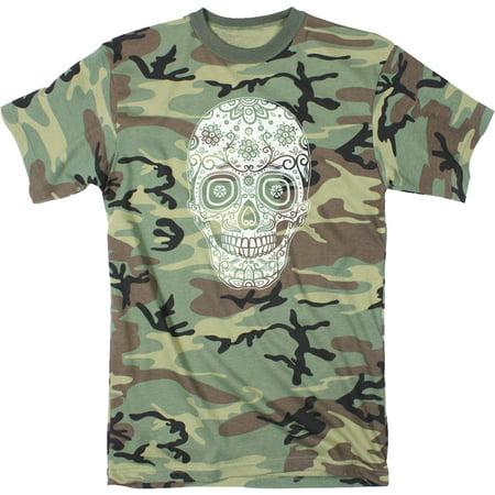 Mens Sugar Skull  Tshirt Cinco De Mayo Cool Dia De Los Muertos Tee For - Sugar Skull Makeup For Guys