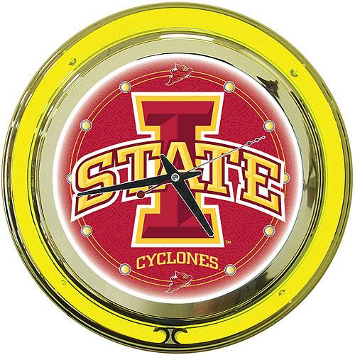 """Iowa State University 14"""" Neon Wall Clock"""