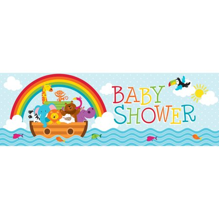 Noah's Ark Giant Baby Shower Banner](Noah's Ark Baby Shower Theme)