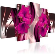 Home Wall Decor Art Print Canvas Pictures Red Flower Photos, 5 Panels Modern Wall Painting without Framed