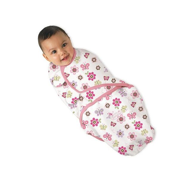 Summer Infant SwaddleMe Adjustable Infant Wrap, Flutter Flowers, Small/Medium (Discontinued by Manu