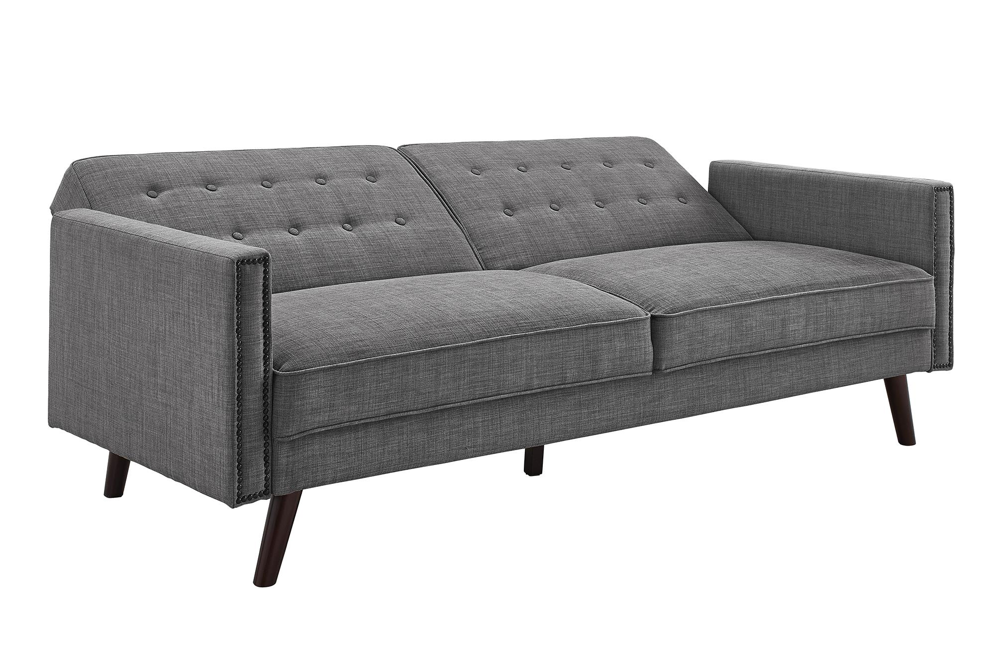 Better Homes and Gardens Rowan Linen Futon Sofa, Grey by Dorel Home Products